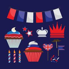 Free Icons For United Kingdom Party Royalty Free Stock Image - 29076126