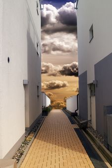 Free Alley Dramatic Stock Image - 29076901