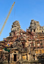Free Tower Crane In The Temple Of Angkor Wat Stock Photos - 29082213