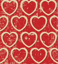 Free Hearts Beige Grunge Seamless Royalty Free Stock Photos - 29081388