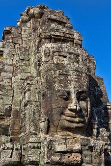 Angkor Face, Angkor Thom, Cambodia Royalty Free Stock Images