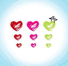 Hearts And Birds Stock Photo
