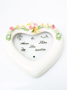 Free A White Ceramic Hearth With Various Language Meaning Of Love Stock Photography - 29084292