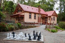 Free Cottage And Chess Set Stock Photos - 29084973