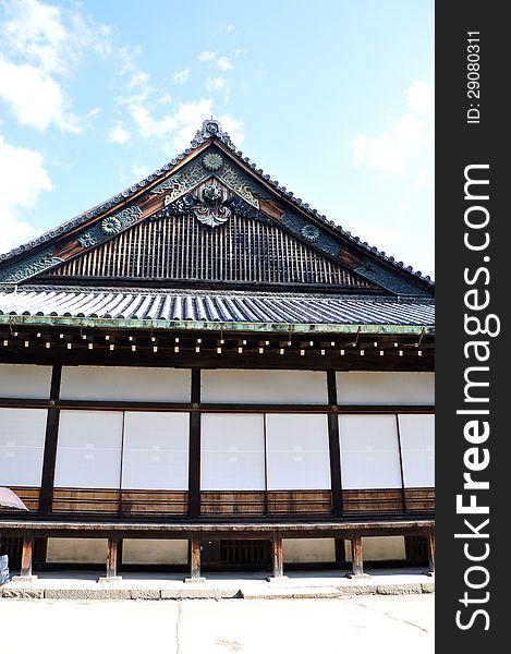 Nijo Castle was built in 1603 in Kyoto, Japan