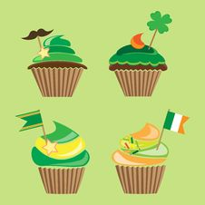 Free Cupcakes For St.patrick`s Day Royalty Free Stock Photography - 29094857