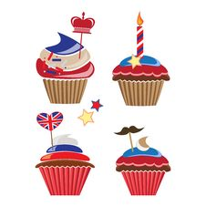 Free Cupcakes For United Kingdom Party Stock Photography - 29094922
