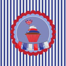 Free Cupcake In UK Traditional Colors Stock Photography - 29095212