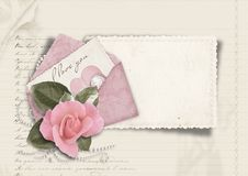 Free Beautiful Love Card. Retro Postcard For Valentine Stock Image - 29096111