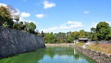 Pond At Nijo Castle Stock Photos