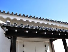 Ancient Japanese Architecture, Kyoto, Japan Royalty Free Stock Photo