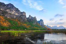 Lotus Lake At Khao Sam Roi Yot National Park Stock Images