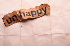 Free Word Unhappy Transformed Into Happy. Motivation Stock Images - 29099744