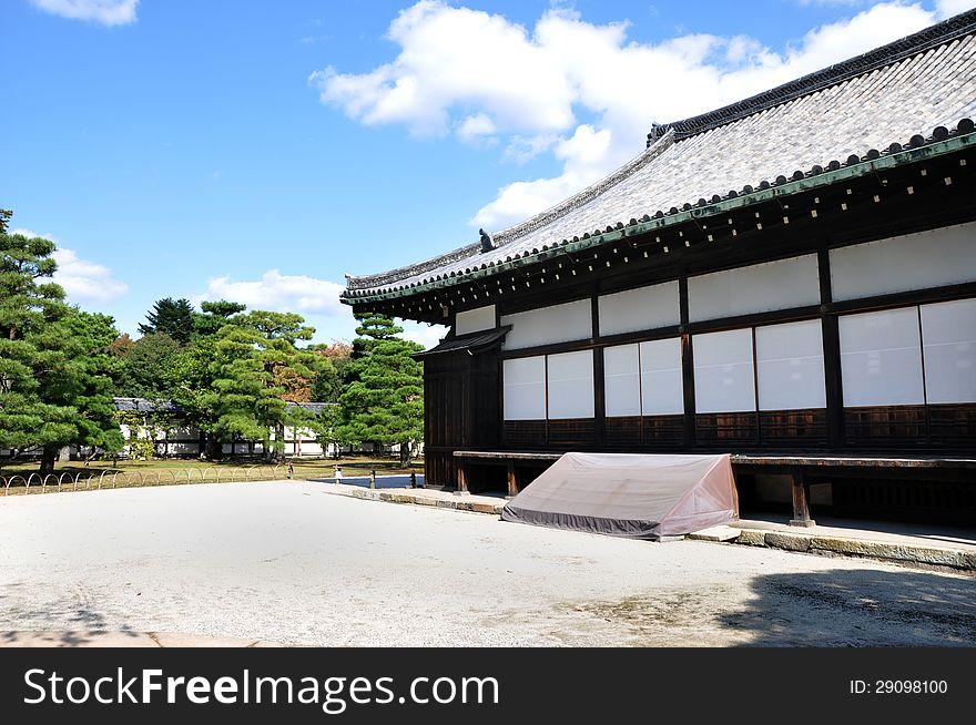 Nijo Castle was built in 1603 as the Kyoto, Japan