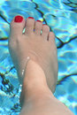 Free Foot In The Swimming Pool Stock Photo - 2910100
