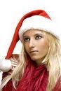 Free Girl Wearing Santa Claus Hat Stock Photos - 2910843