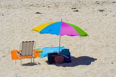 Free Colorful Umbrella In Beach Royalty Free Stock Photos - 2910008