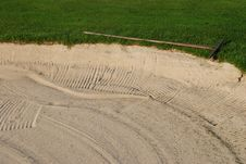 Free Golf Bunker Royalty Free Stock Photo - 2910205