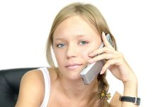 Free Girl Talking On Phone Stock Photography - 2911092