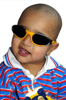 Bald Indian Kid Royalty Free Stock Image