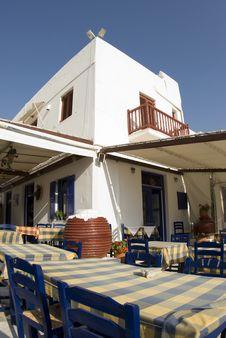 Free Greek Island Taverna Royalty Free Stock Photos - 2912308