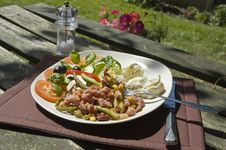 Al Fresco Salad Stock Images