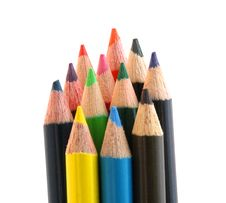 Free Group Of Colored Pencils Stock Photos - 2914163