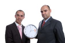 Free Two Business Men With Clock Stock Images - 2914504