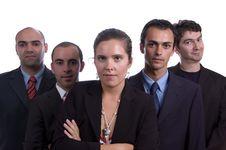 Free Five Member Business Team Stock Image - 2914511