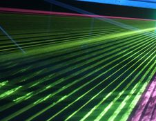 Laser Crowd Stock Image