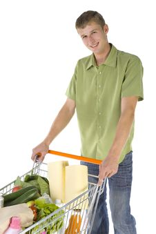 Free Happy Shopping Man Stock Image - 2917991