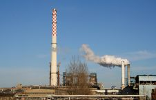 Smoking Factory Chimney Stock Image