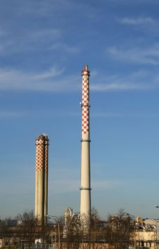 Smoking Factory Chimney Royalty Free Stock Photos