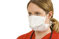 Free Doctor With Face Mask Royalty Free Stock Image - 2919686
