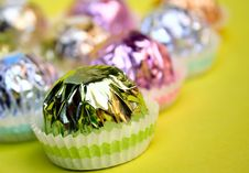 Free Pralines On Yellow Royalty Free Stock Photography - 2919907