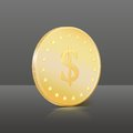 Free Gold Coin With Dollar Sign. Vector Illustration Stock Images - 29106174