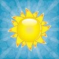 Free Big Shining Summer Sun With Sunbeams On The Sky. Stock Photography - 29107242