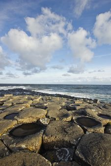 Sunny Day At The Giant S Causeway Royalty Free Stock Photography