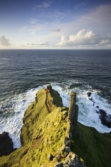 High View From Lacada Point - Part Of The Giant S Causeway UNESCO World Heritage Site Stock Image
