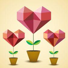 Free Origami Hearts Royalty Free Stock Photo - 29103025