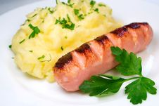 Free Sausage With Potatoes Royalty Free Stock Image - 29103746
