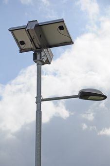 Free Solar Street Lamp Royalty Free Stock Photo - 29105545