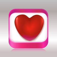 Free Red Heart In A Gift Box Stock Photo - 29106190