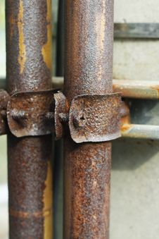 Free Clamp Collar For Old Pipe With Screw Stock Image - 29106601
