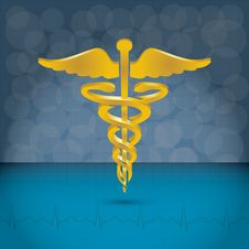 Caduceus Medical Symbol Vector Illustration. Stock Photo