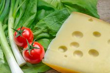 Free Cheese And Vegetables Stock Photo - 29109370