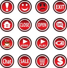Free Set Of Icons. Stock Photography - 29109832