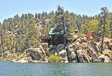 Free Big Bear Lake/Cabin Overlooking Lake Stock Photo - 29113780