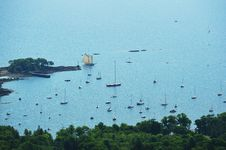 Free Clipper Sailboat Coming Into Safe Harbor Stock Photos - 29113993
