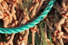Free Close-up Of Colorful Frayed Nylon Lobster Men Rope Stock Photo - 29114100